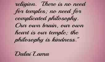 Inspired by the Dalai Lama