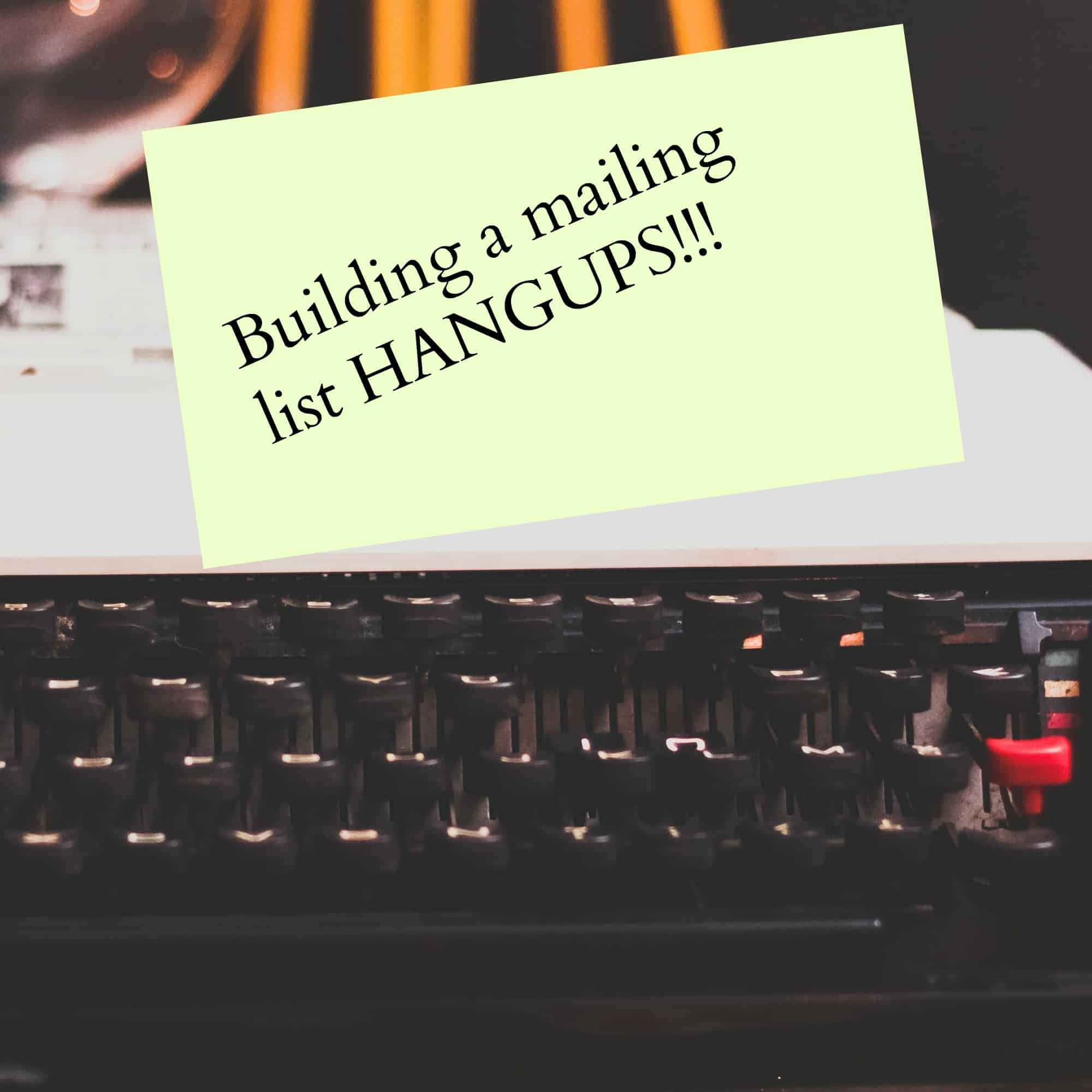 Builing a mailing list hangups and some interesting stats that might help