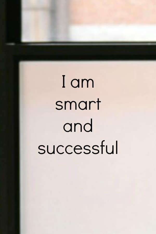 Smart and success affirmation
