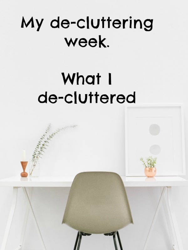 I managed a grand total of 101 items on this weeks de-clutter challenge.