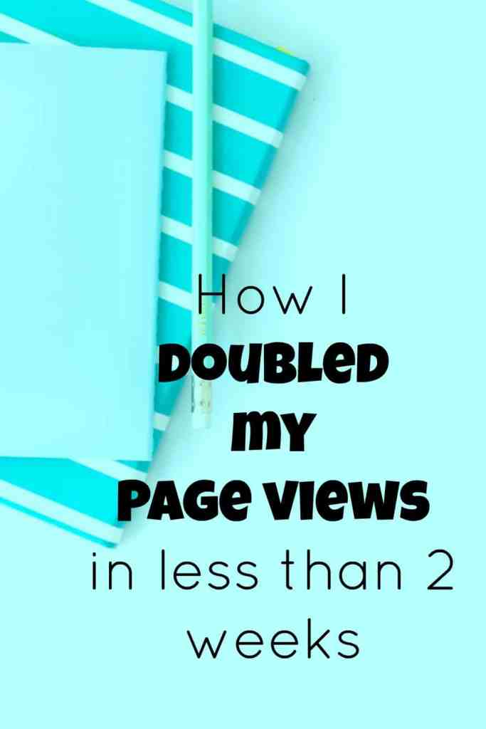 Double page views on blog.
