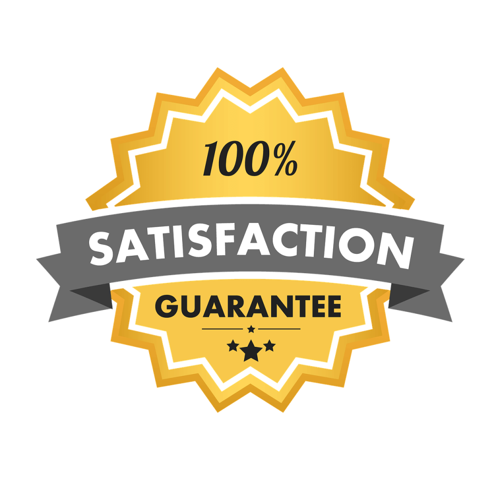 Offer your customers a guarantee.