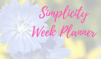 Simplicity Week Planner –  Let's keep things super focused and super simple