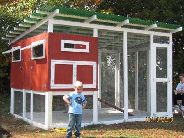 Wonderful Large Chicken Coop Design