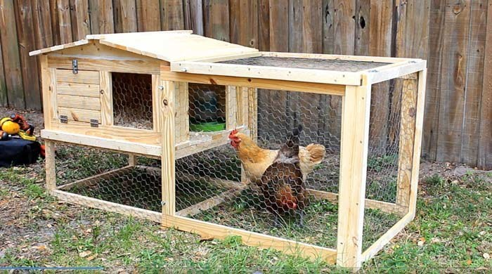 61 diy chicken coop plans that are easy to build 100 free for How to build a movable chicken coop