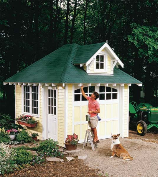 108 diy shed plans with detailed step by step tutorials free - Backyard sheds plans ideas ...
