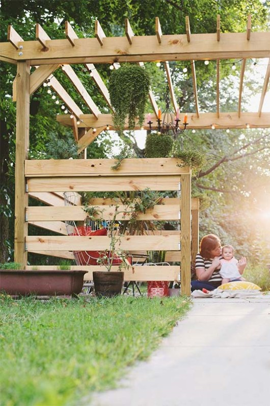 Pergola Plans from 'A Beautiful Mess' - 51 DIY Pergola Plans & Ideas You Can Build In Your Garden (Free)