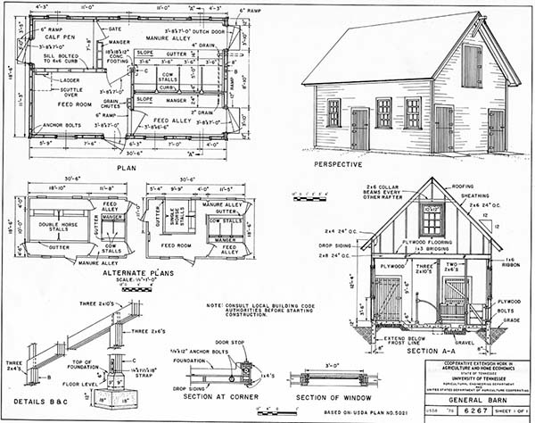 University of Tennessee Shed Plans