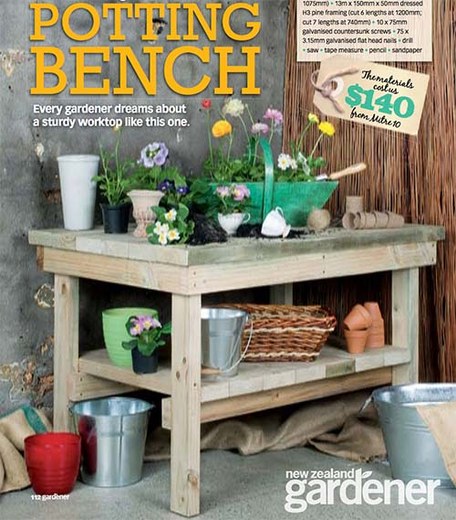 The Easy DIY Potting Bench - 45 DIY Potting Bench Plans That Will Make Planting Easier (Free)