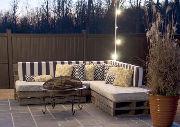 Well, Donu0027t Let The Outrageous Price Of Patio Furniture Deter You From That  Dream. Instead, Create This Pallet Sofa ...