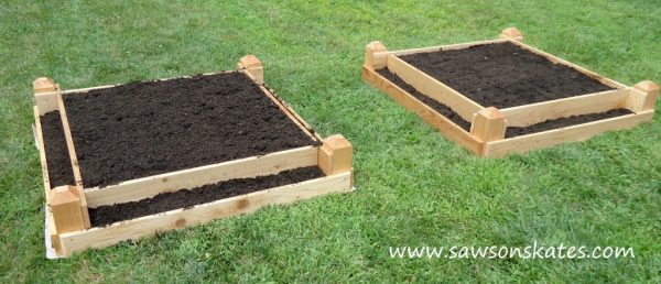 This Raised Garden Bed Has A Very Unique Style. It Is Actually Two Tier.  Meaning It Has A Stair Step Appearance.