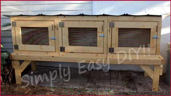 50 diy rabbit hutch plans to get you started keeping rabbits - How to make a rabbit cage ...