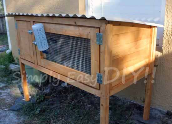 50 diy rabbit hutch plans to get you started keeping rabbits for Simple rabbit hutch
