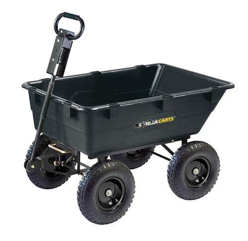 This Cart Comes In Two Sizes: 40 Inch X 25 Inch Bed With 13 Inch Tires  Weighing 58.6 Pounds, 49 Inch X 32 Inch Bed With 15 Inch Tires Weighing 82  Pounds.