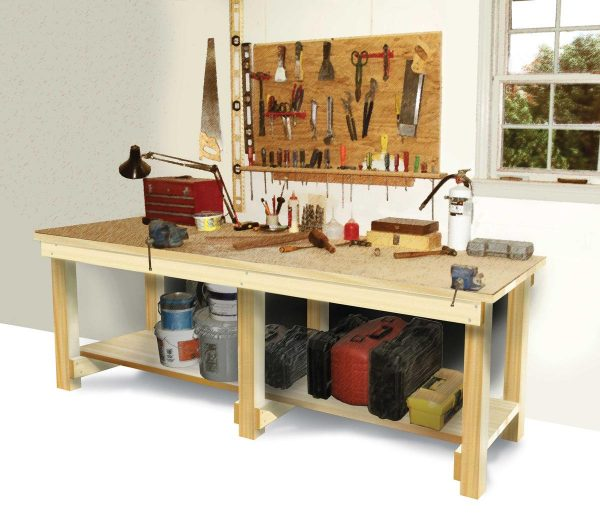 49 free diy workbench plans ideas to kickstart your for Working table design ideas