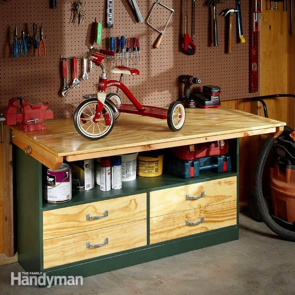 This Garage Workbench Is Truly A Great Workbench. It Not Only Has Ample Of  Workspace (which Is Always High On The List Of Priorities.