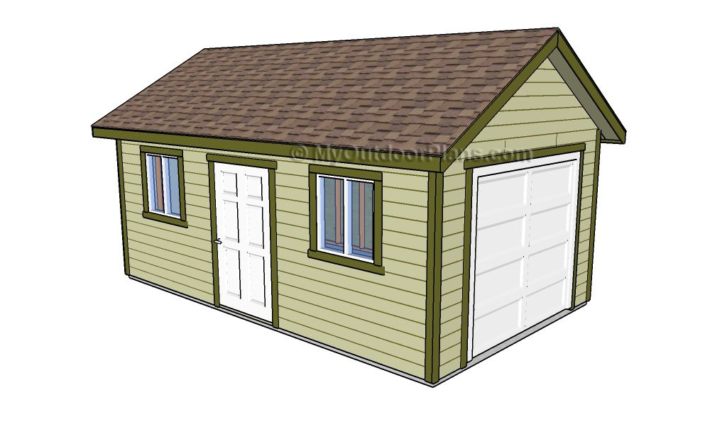 18 free diy garage plans with detailed drawings and for Garage drawings free