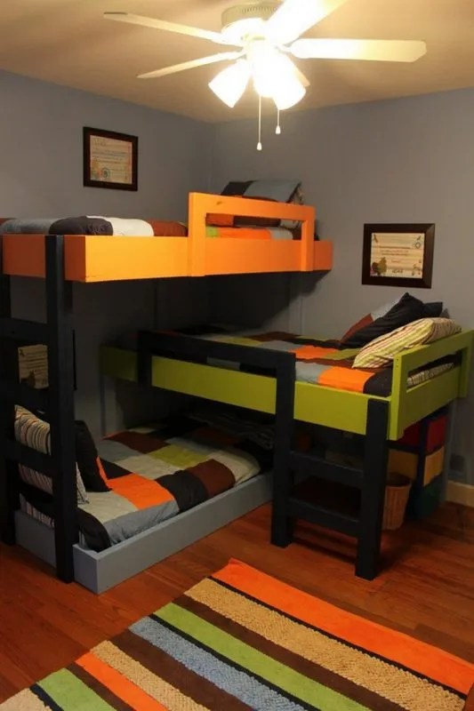 31 DIY Bunk Bed PlansIdeas that Will Save a Lot of Bedroom Space