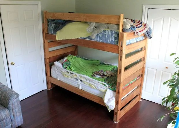 Space Bunk Beds 31 diy bunk bed plans & ideas that will save a lot of bedroom space