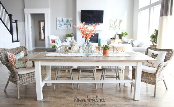 Diy Rustic Dining Room Table 40 diy farmhouse table plans & ideas for your dining room (free)