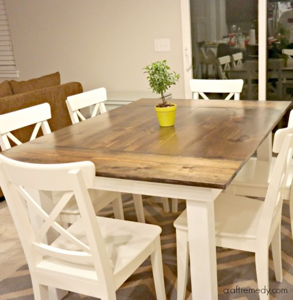 the simple white farmhouse table how to make a dining room with leaf build your own plans