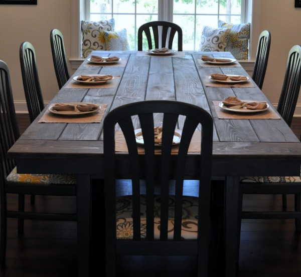 Rooms To Go Dining Table: 40 DIY Farmhouse Table Plans & Ideas For Your Dining Room