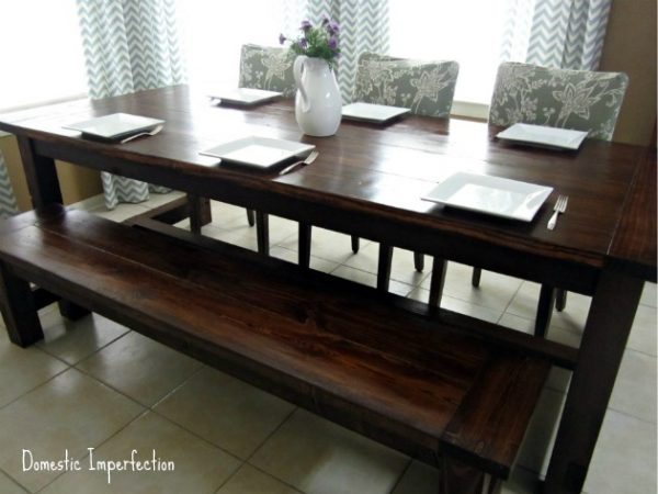This Farmhouse Table Is Shown As Seating 6. But In Reality, You Could Add A  Couple Of Chairs At The End And Seat At Least 8.