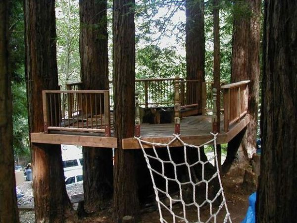 This Tree Deck Has A Cool Rope That You Can Climb To Get To It. And This Is  A Literal Deck. There Is No Top To It So You Wouldnu0027t Be Able ... Part 69