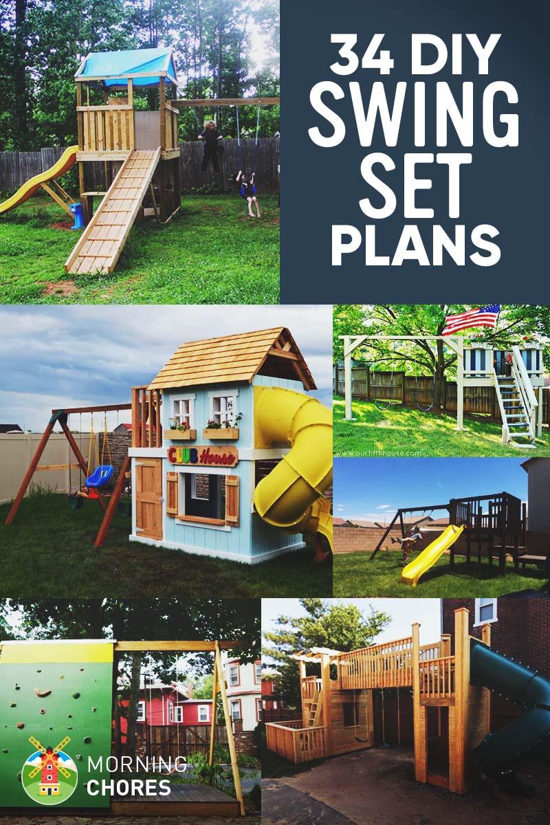 34 free diy swing set plans for your kidsu0027 fun backyard play area