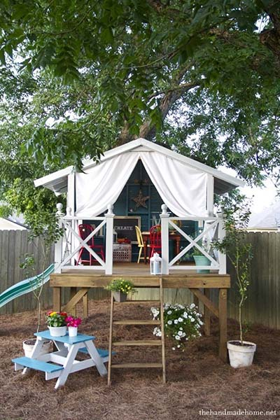Delightful Playhouse Hideaway Plans Amazing Pictures