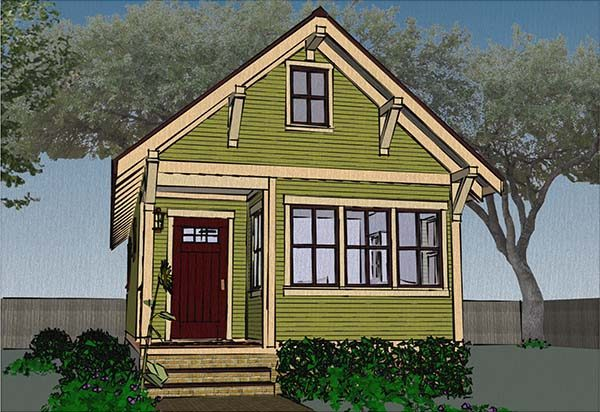 this tiny house goes a little smaller than the previous plans mentioned this house comes in at 480 square feet - Tiny House Plans