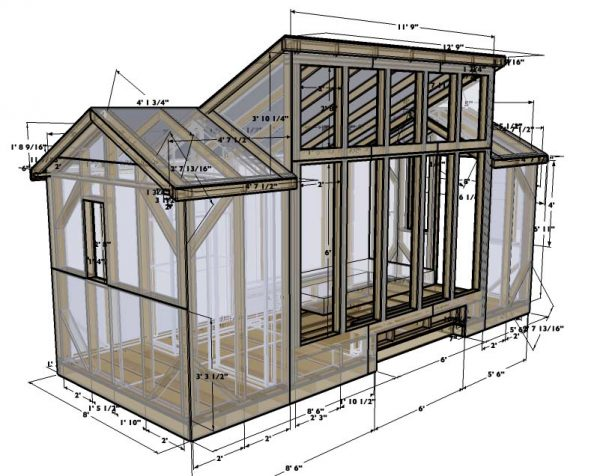 20 free diy tiny house plans to help you live the small for Solar cottage plans