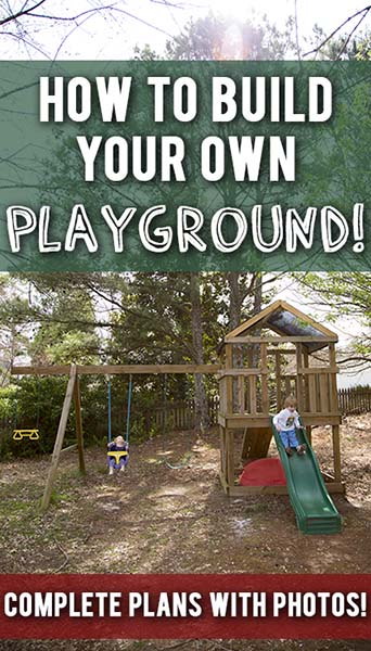 34 free diy swing set plans for your kids 39 fun backyard for Design your own playground online