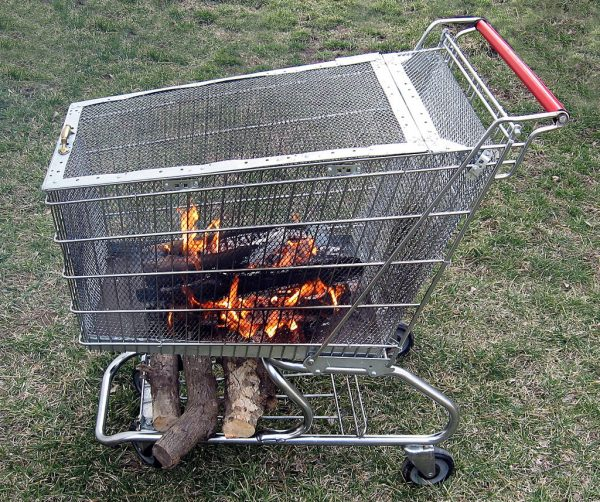 This Fire Pit Is Great! It Takes Upcycling To A Whole New Level. They Take  An Old Shopping Cart And Turn It Into A Fire Pit That Can Be Moved Anywhere  You ...