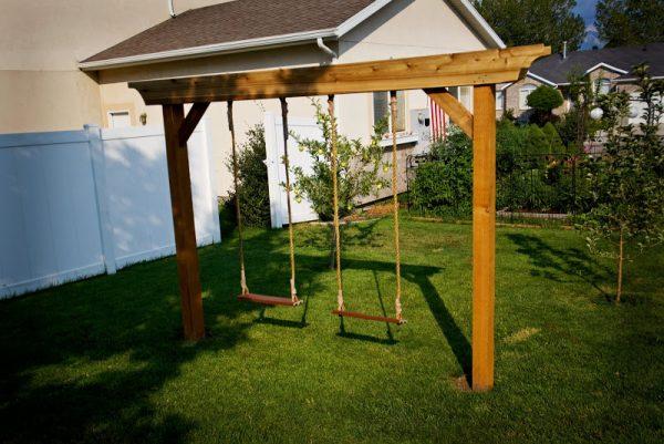 porch glider swing frame plans 34 free diy swing set plans for your kids fun backyard - Diy Swing Frame