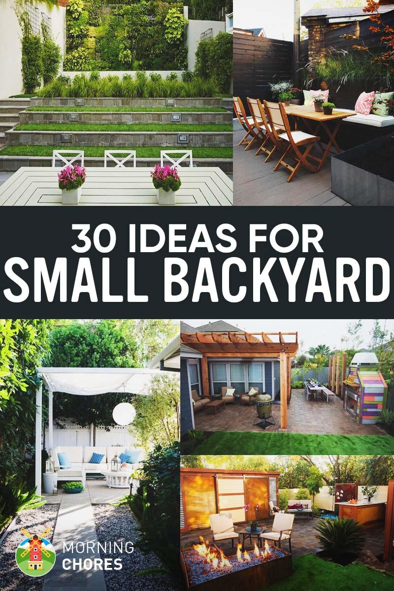 30 Small Backyard Ideas That Will Make Your Backyard Look Big on Tiny Back Garden Ideas id=76995