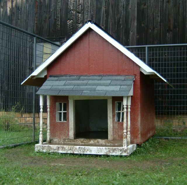 you can tell this dog house has been dearly loved by its furry owners i love the design of it too so i can understand why