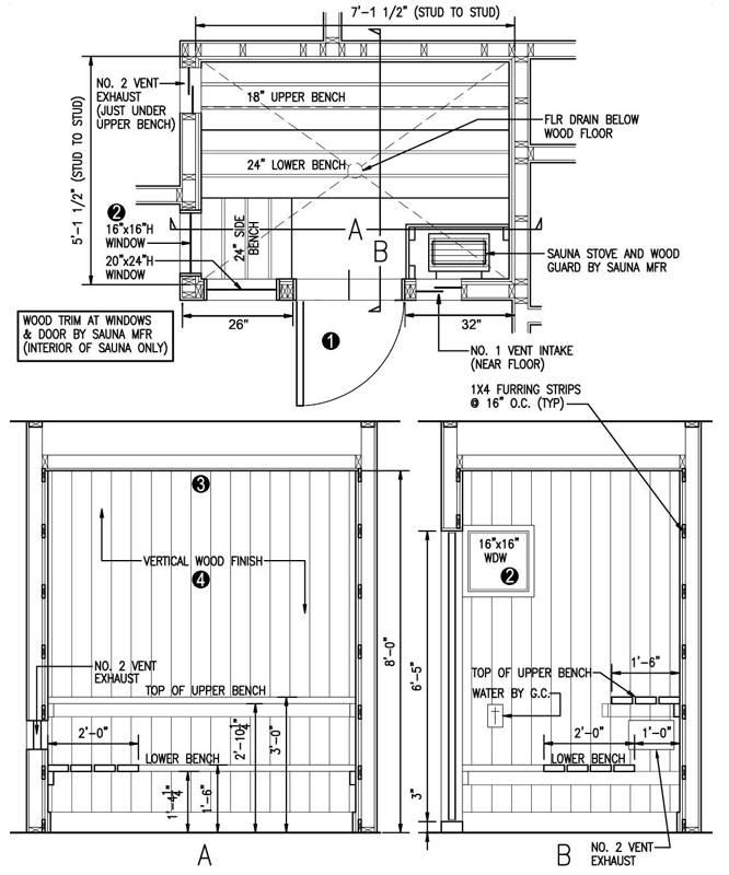 21 inexpensive diy sauna and wood burning hot tub design ideas for Sauna floor plans