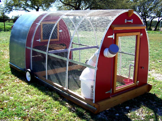 61 diy chicken coop plans that are easy to build 100 free for Mobile chicken coop plans
