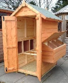 this is more of an idea of what you can do to build a chicken coop they took a small shed and transformed it into a smaller coop - Chicken Coop Design Ideas