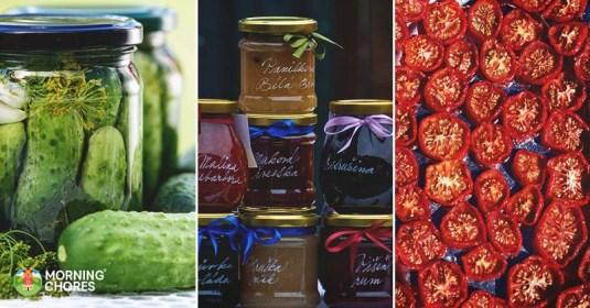 12 Food Preservation Methods to Make Your Food & Harvest Last Longer
