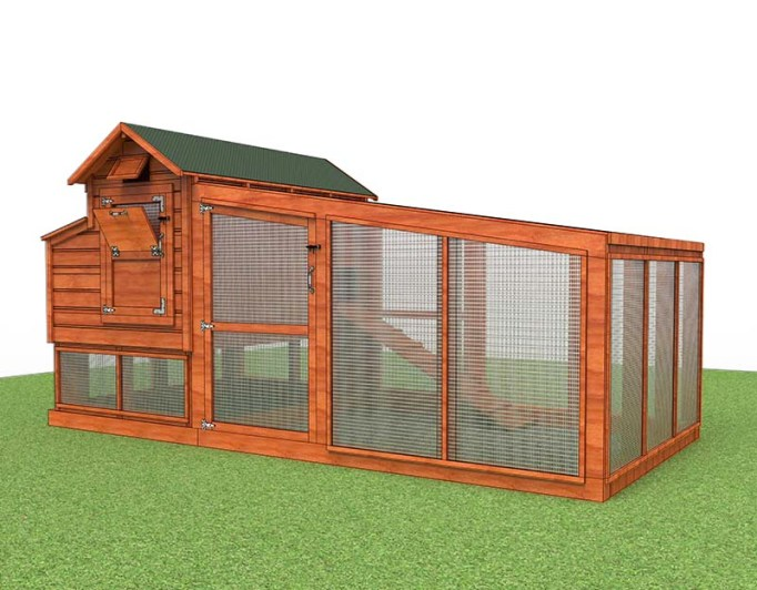 most beginners start with 10 chickens but its too big for you we also have this 12x6 chicken coop plans for 6 8 chickens everything else is the same