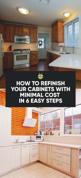 How to refinish your cabinets with minimal cost in 6 easy for Cost to refinish cabinets