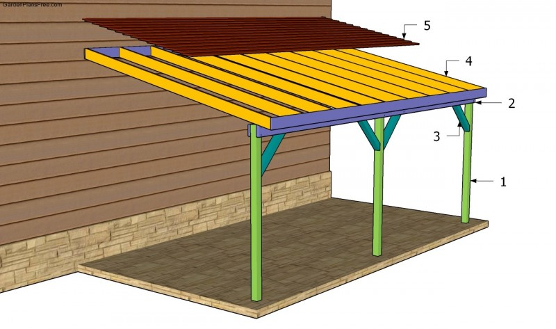 20 stylish diy carport plans that will protect your car for Timber carport plans