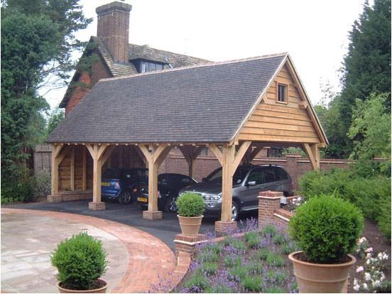 20 stylish diy carport plans that will protect your car for Open carport plans