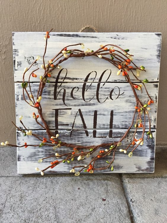 27 creative fall pallet projects for decorating your home for Best selling home decor etsy