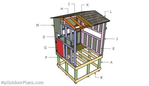 20 free diy deer stand plans and ideas perfect for hunting season elevated deer blind plans solutioingenieria Choice Image
