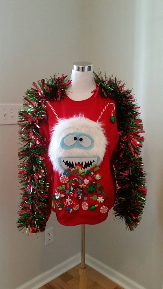 51 ugly christmas sweater ideas so you can be gaudy and for Bad christmas decoration