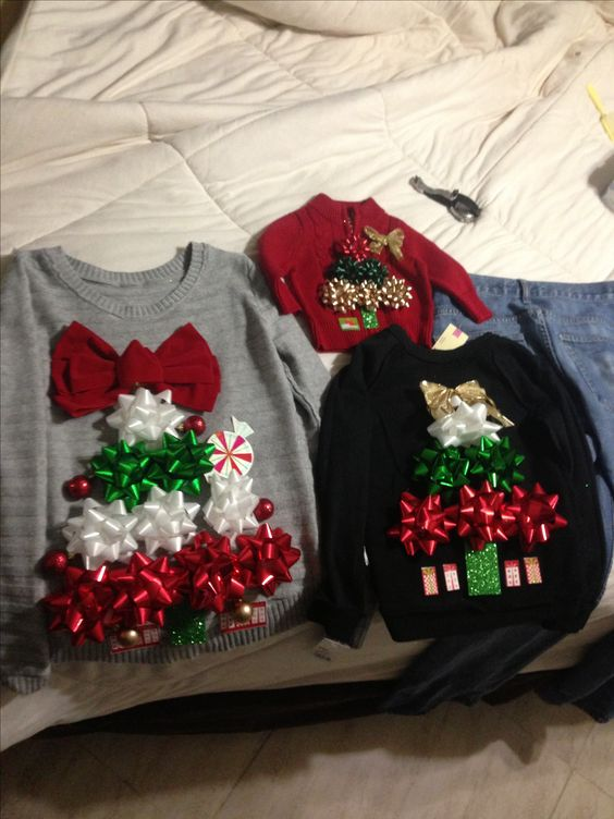 51 ugly christmas sweater ideas so you can be gaudy and festive family ugly sweaters solutioingenieria Gallery