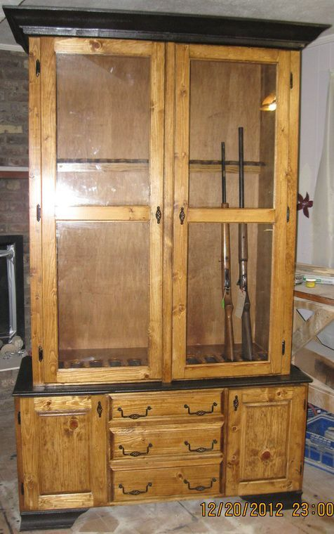 Wood Gun Cabinet Plans ~ Interesting gun cabinet and rack plans to securely